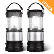 Outdoor Camping Lamp, Portable Outdoor Rechargeable Solar LED Camping Light Lantern Handheld Flashlights with USB Charger, Perfect Hiking Fishing Emergency Lights