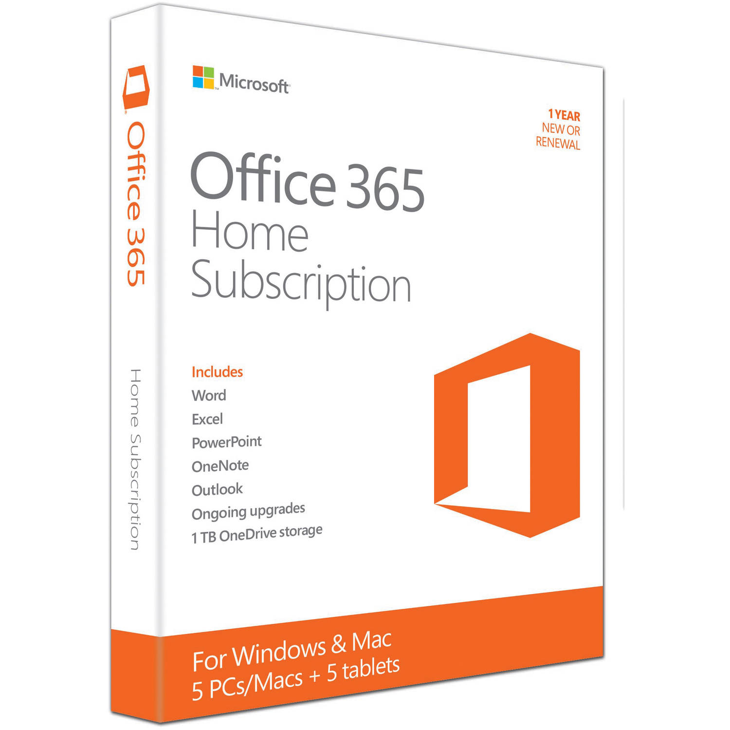 microsoft office 365 home 5 pcsmacs 5 tabletsipads 1 year subscription walmartcom