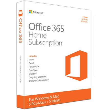 microsoft office 365 home 5 pcs macs 5 tablets ipads 1 year