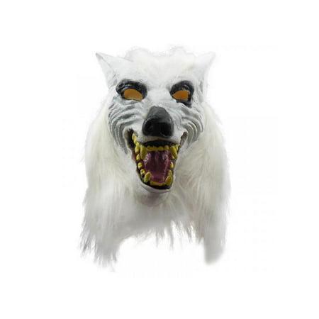 MarinaVida Wolf Head Shape Halloween Mask Horror Masquerade Props Cosplay ()