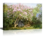 wall26 - Lilacs in The Sun by Claude Monet - Impressionist Modern Art - Canvas Art Home Decor - 24x36 inches