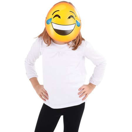 Texting Emoticon Emoji Crying Laugh Face Mask Costume Accessory