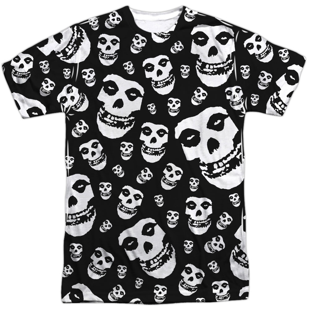 Misfits Men's  Fiends All Over Sublimation T-shirt White