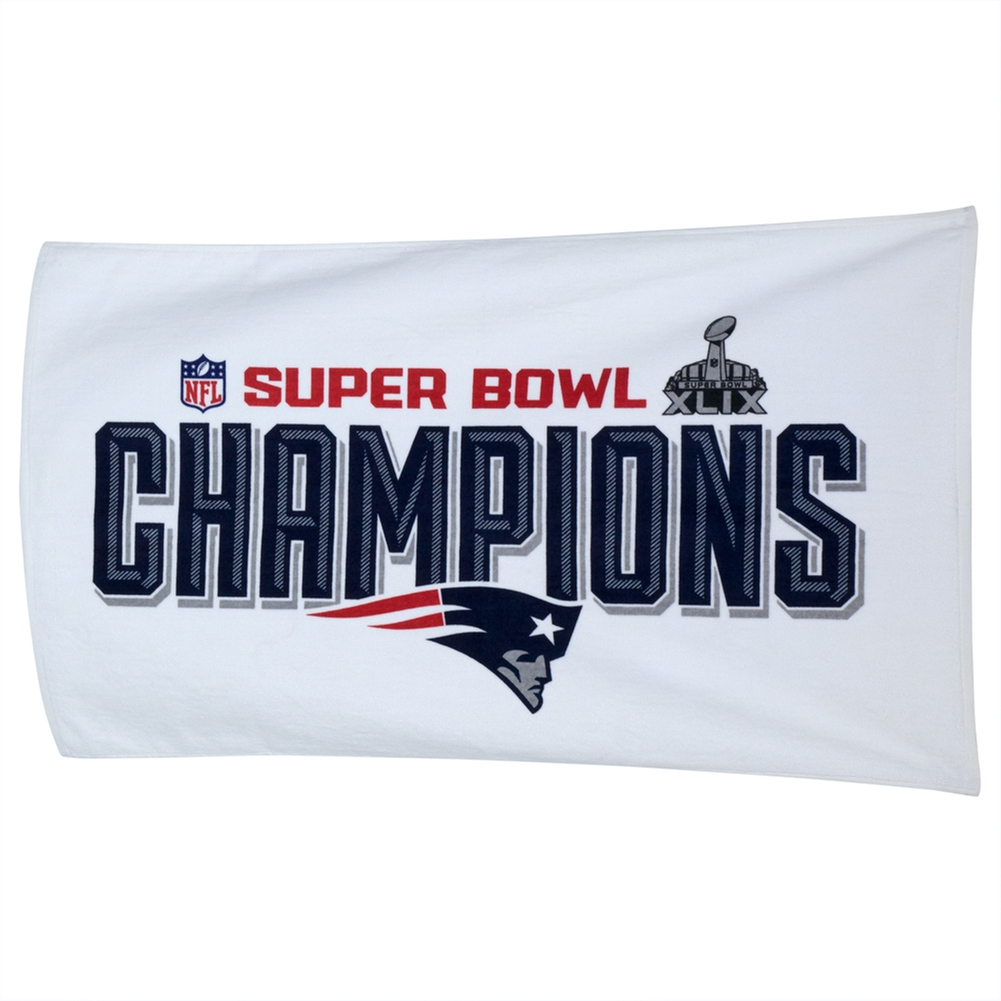 New England Patriots - Super Bowl 49 Champions Official On Field Trophy Towel