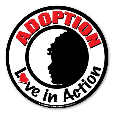 Action Magnet - Adoption Love In Action Circle Magnet