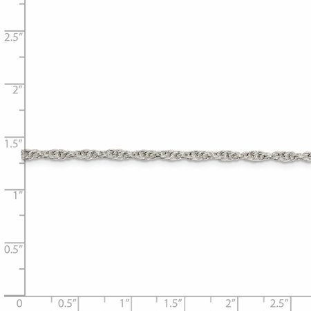 925 Sterling Silver 2.5mm Loose Rope Chain 24 Inch - image 1 de 5