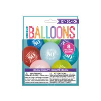 Latex Fun Happy 50th Birthday Balloons, Assorted, 12 in, 8ct