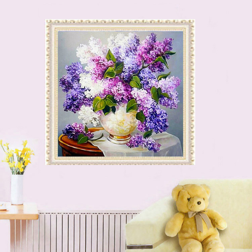Girl12Queen Lavender Romantic DIY 5D Diamond Cross Stitch Painting Craft Home Wall Decor