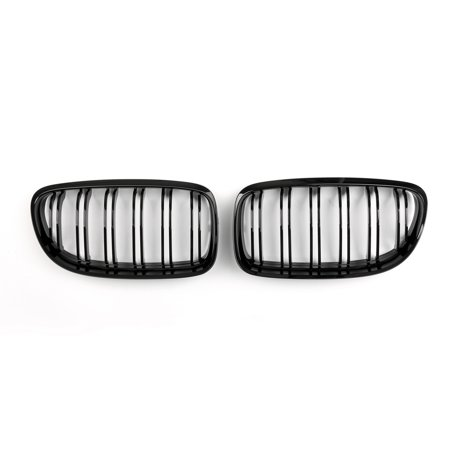 Areyourshop Front Kidney Hood Grilles Gloss Black For BMW E90 E91 LCI 3 Series 2008-2012