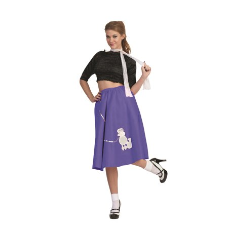 Purple Poodle Skirt 50's Scarf Sock Hop 1950's Retro Grease Sandra Dee - Sandra Dee Grease