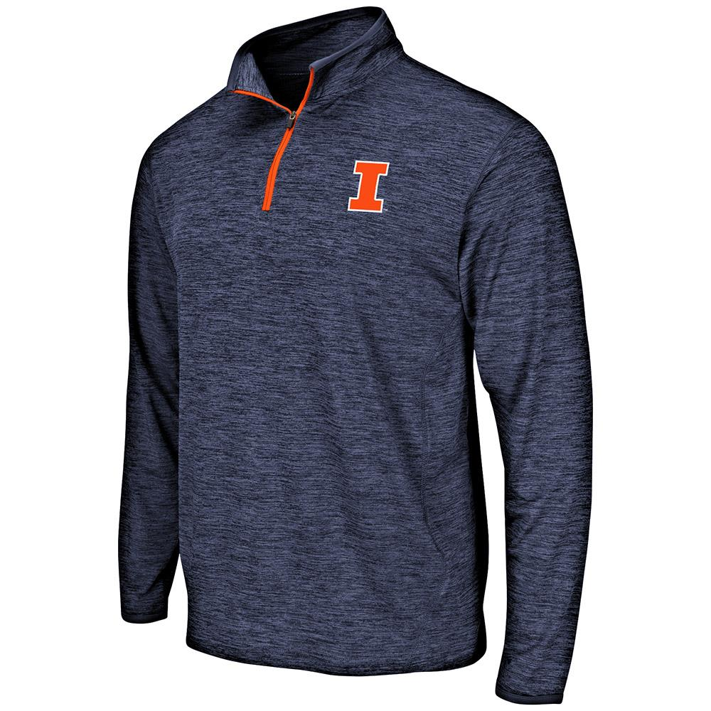 Mens Illinois Fighting Illini Quarter Zip Windbreaker Shirt - S