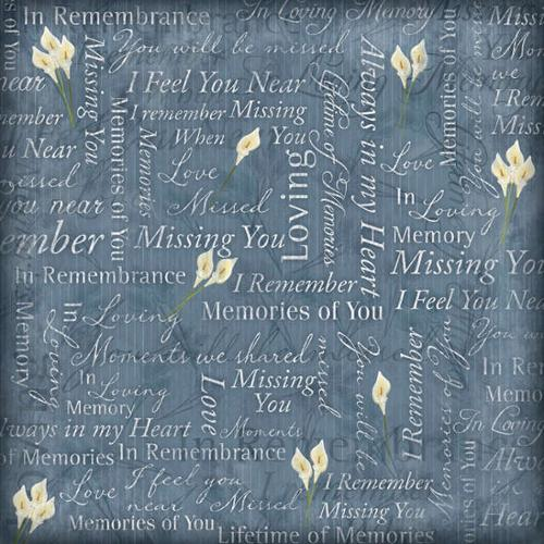 "In Loving Memory Paper 12""X12""-Remembrance Collage"