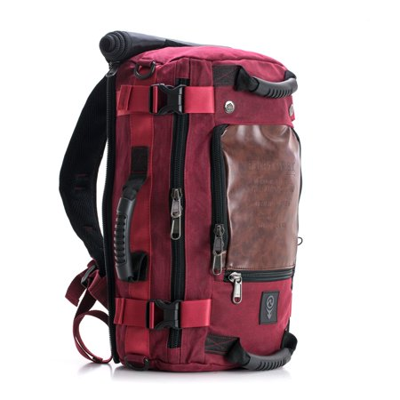 SOVRN Republic Canvas Premium Duffle Bag Backpack 30L SOVRN Drifter, Burgundy