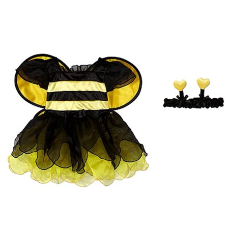 Koala Kids Infant Girls Yellow Bumble Bee Costume with Wings & Headband