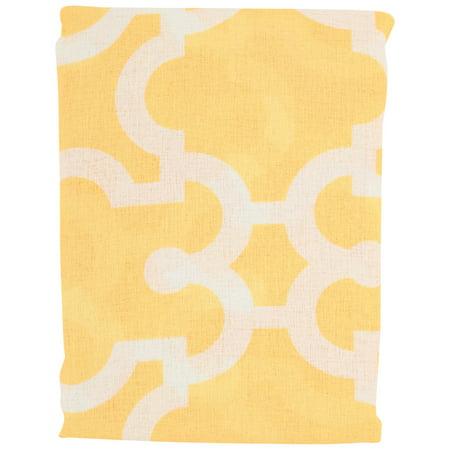 hometrends yellow sheffield semi sheer rod pocket panel walmart com