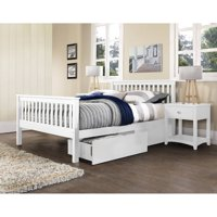 Hillsdale Furniture Barrett Bed With 2 Underbed Storage Drawers, Full, White