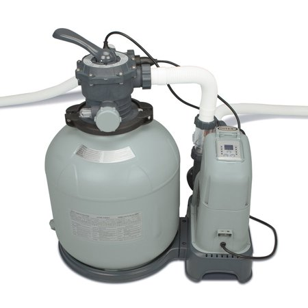 Intex 2650 GPH Saltwater System & Sand Filter Pump Swimming Pool Set | (Best Salt Water Chlorinator System)