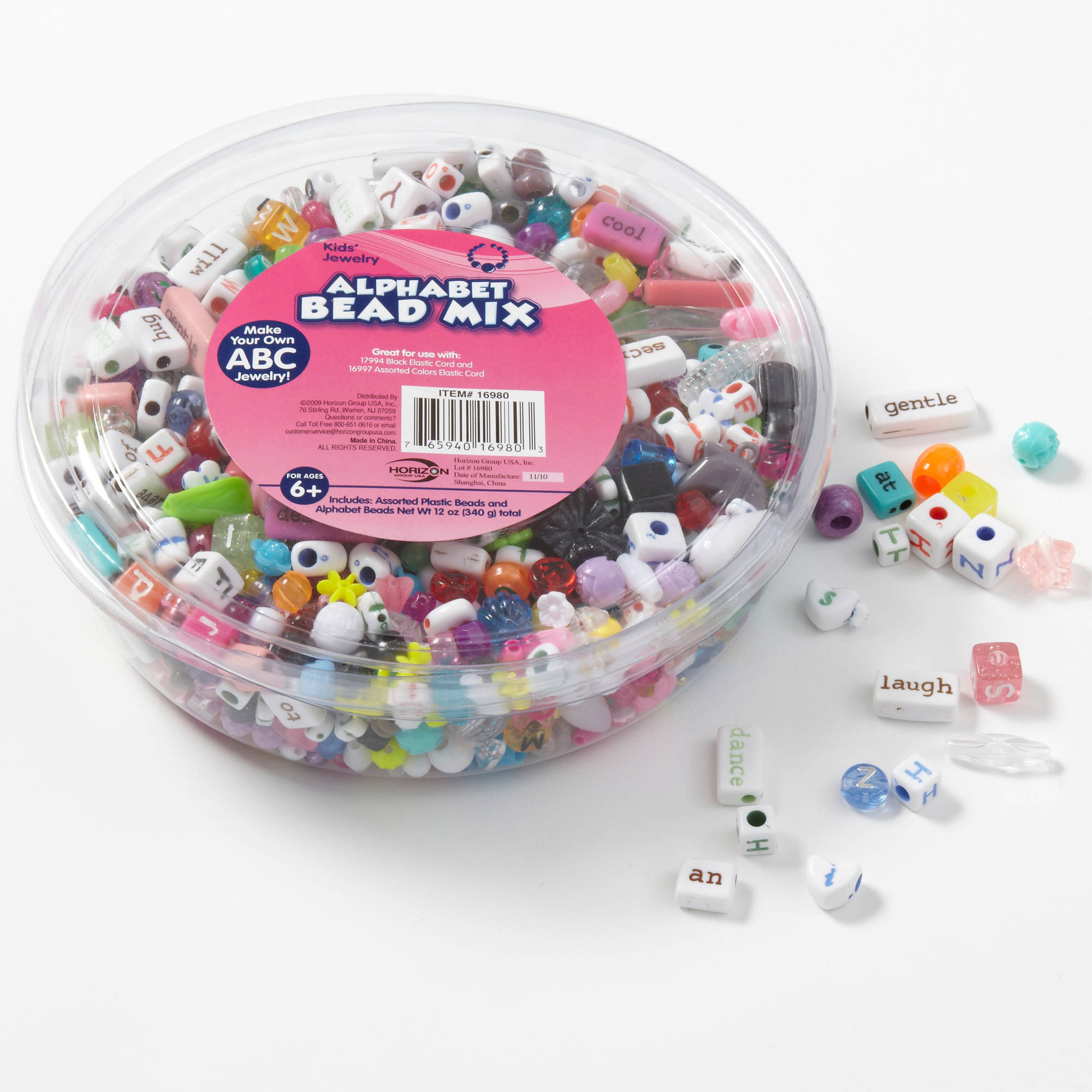 Kids Craft Alphabet Beads Tub by Horizon Group USA