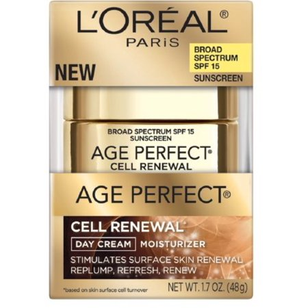 L'Oreal Paris Age Perfect Cell Renewal Day Cream Moisturizer 1.7 oz (Pack of 2)