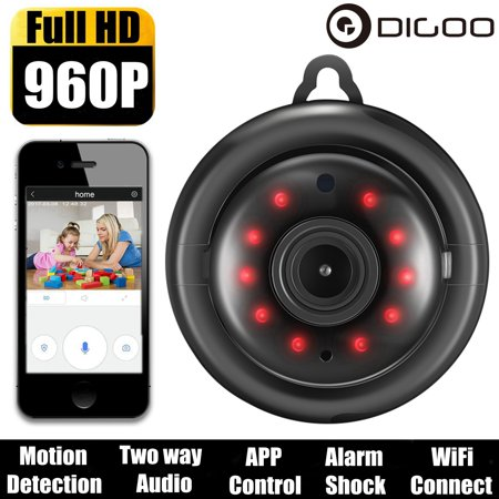 Digoo M1Q Smart Indoor Home Security HD 960P Cloud Storage WiFi Wireless Network IP Camera CCTV Baby Monitor,Support Onvif Night Vision Two-Way Audio,Motion Detector APP Control