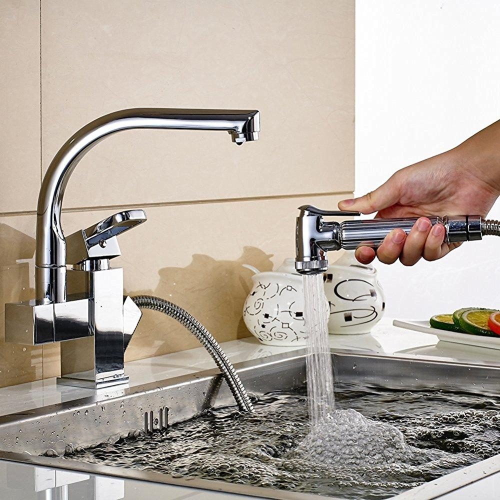 Best Commercial Stainless Steel Kitchen Faucet With Sprayer Single