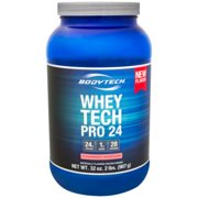BodyTech Whey Tech Pro 24 Protein Powder  Protein Enzyme Blend with BCAA's to Fuel Muscle Growth  Recovery, Ideal for PostWorkout Muscle Building  Strawberry Shortcake (2 Pound)
