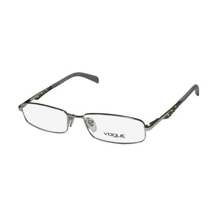 new vogue 3755 womens/ladies designer full-rim silver / gray frame demo lenses 51-16-140 (Vouge Glasses)