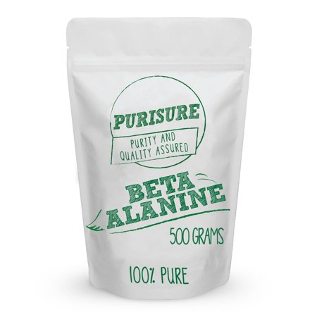 Purisure Beta Alanine Powder 500g (667 Servings)  Bulk Pre Workout Nutrition - Unflavored