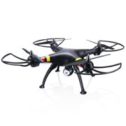 Cheerwing Black Syma X8W FPV 2.4Ghz 4CH Large Headless RC Quadcopter Drone with HD Camera