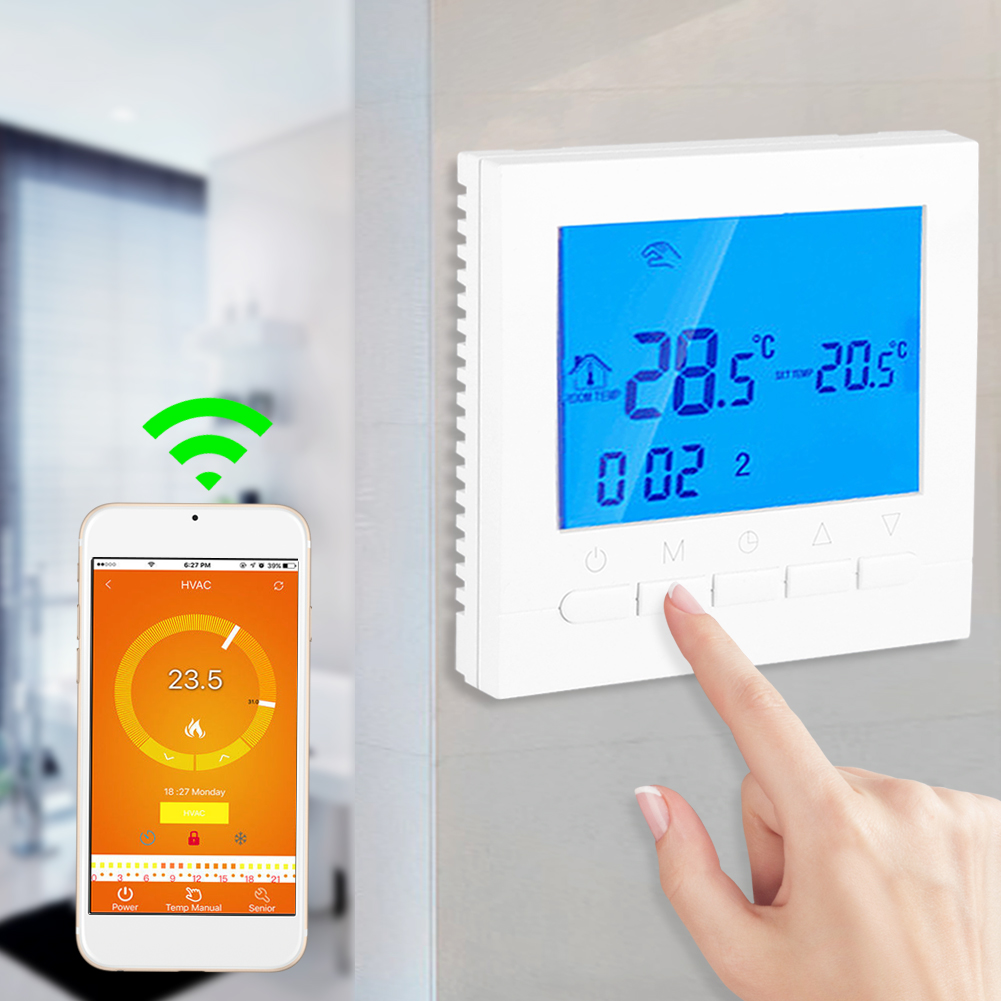 Lv. life Programmable WiFi Wireless Heating Thermostat Digital LCD Screen App Control, Heating Thermostat,Digital Thermostat