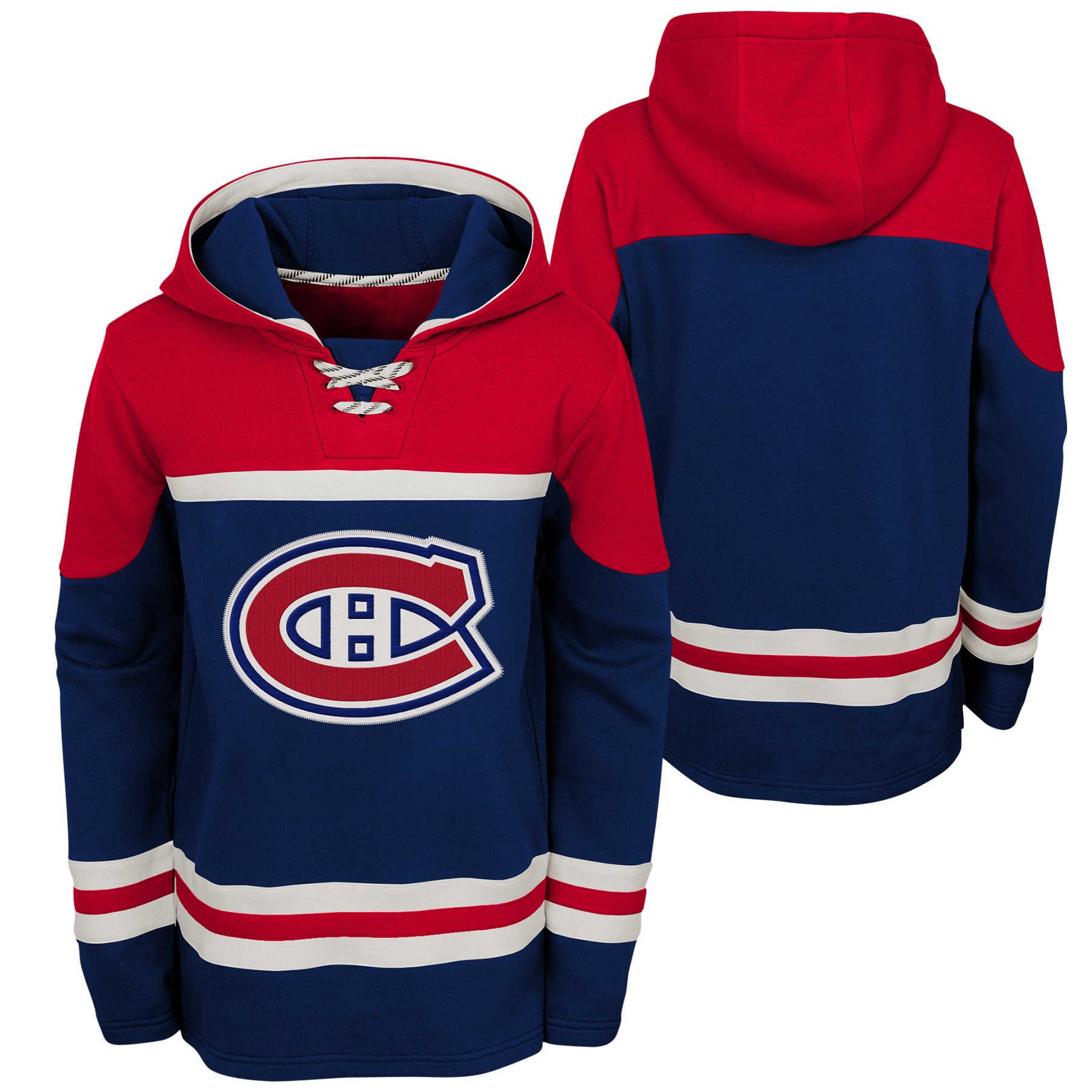 Outerstuff Youth Montreal Canadiens NHL Asset Hockey Hoodie b28bdb37f5a