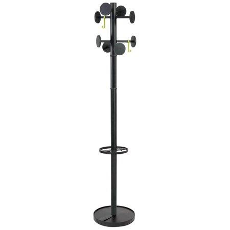 - ALBA - Stan3 coat rack - 8 hooks - Black
