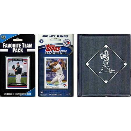 CandICollectables 2013JAYSTSC MLB Toronto Blue Jays Licensed 2013 Topps Team Set & Favorite Player Trading Cards Plus Storage Album (Blue Baseball Player)