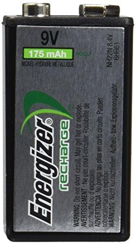 5 Pack Energizer 9 Volt Rechargeable NiMH Battery 175mAh NH22NBP 8.4V Each by