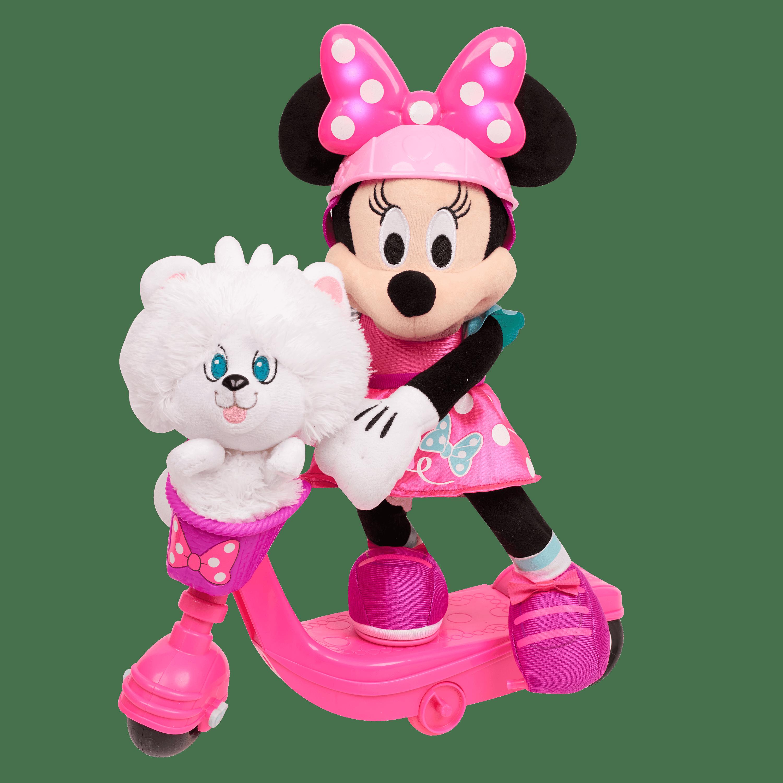Minnie S Happy Helpers Sing Spin Scooter Minnie Plush Walmart Com Walmart Com