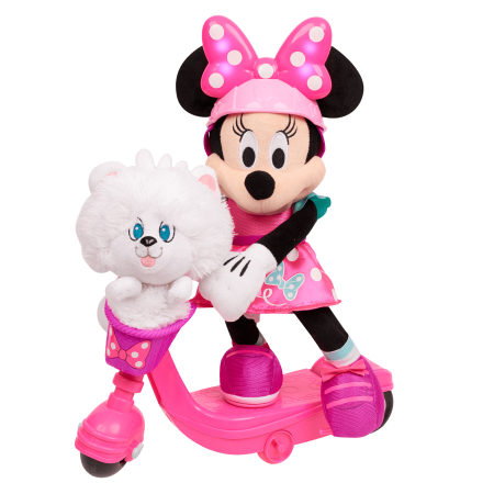 Minnie Mouse Sing and Spin Scooter Minnie Feature Plush for $<!---->