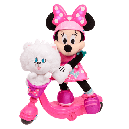 Minnie Mouse Sing and Spin Scooter Minnie Feature Plush (Giant Minnie Mouse)