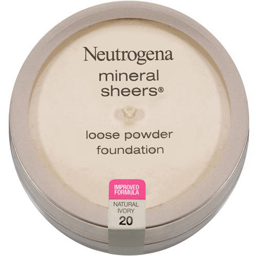 Neutrogena Mineral Sheers Loose Powder Foundation SPF 20, Natural Ivory 20, 0.19 oz