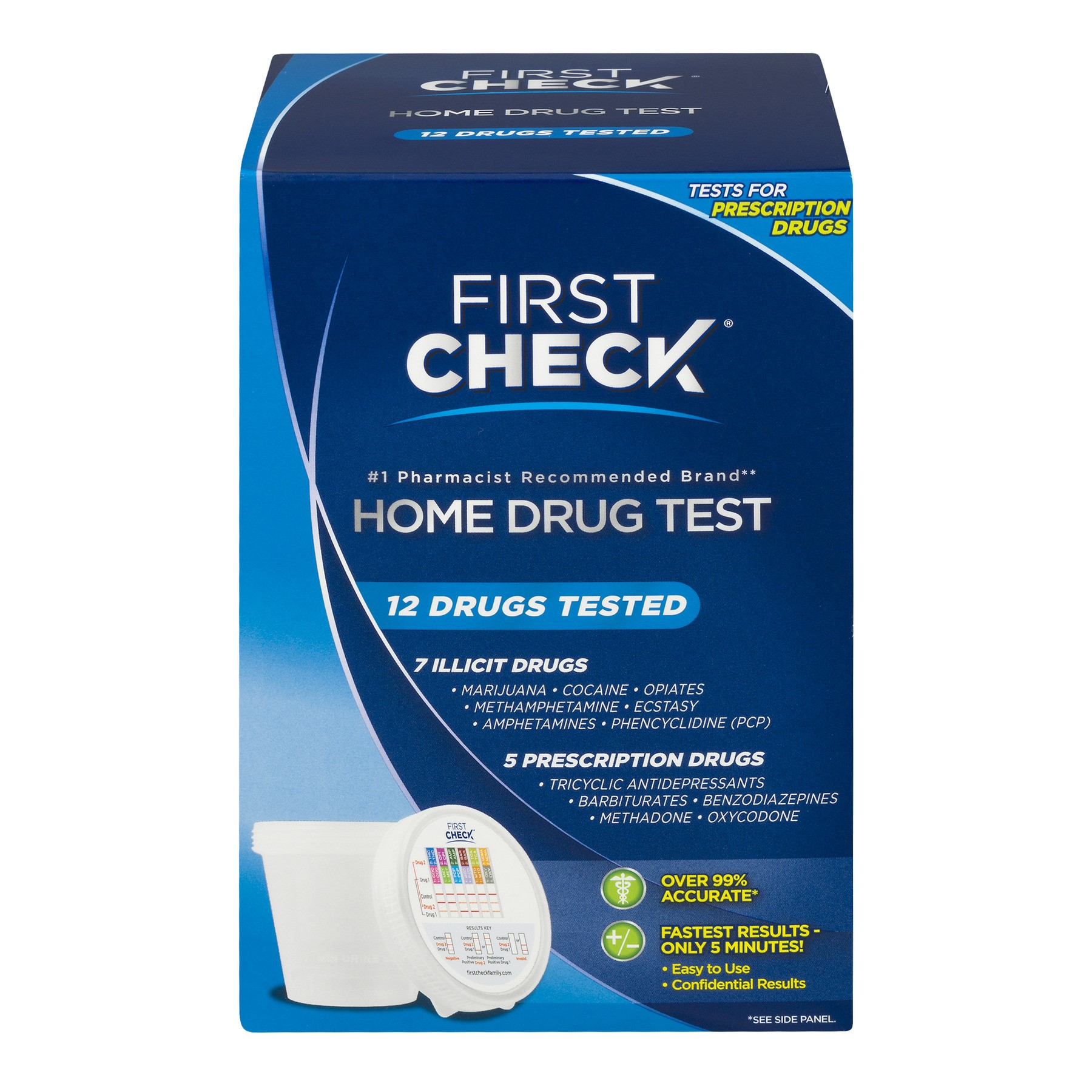 First Check Home Drug Test 4 Drugs Tested 10 Ct Walmart