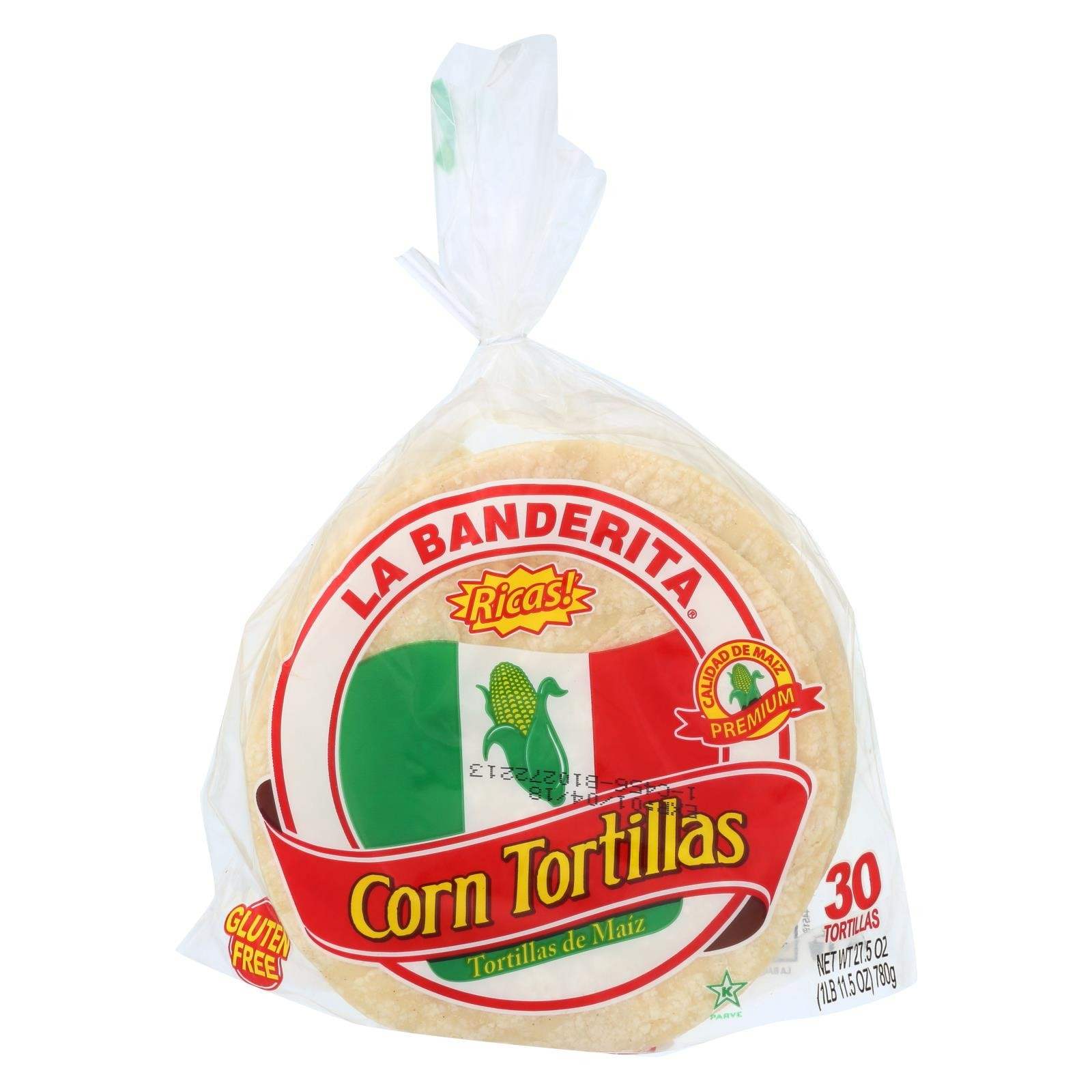 La Banderita Corn Tortillas - Rica's - Pack of 12 - 27.5 Oz.