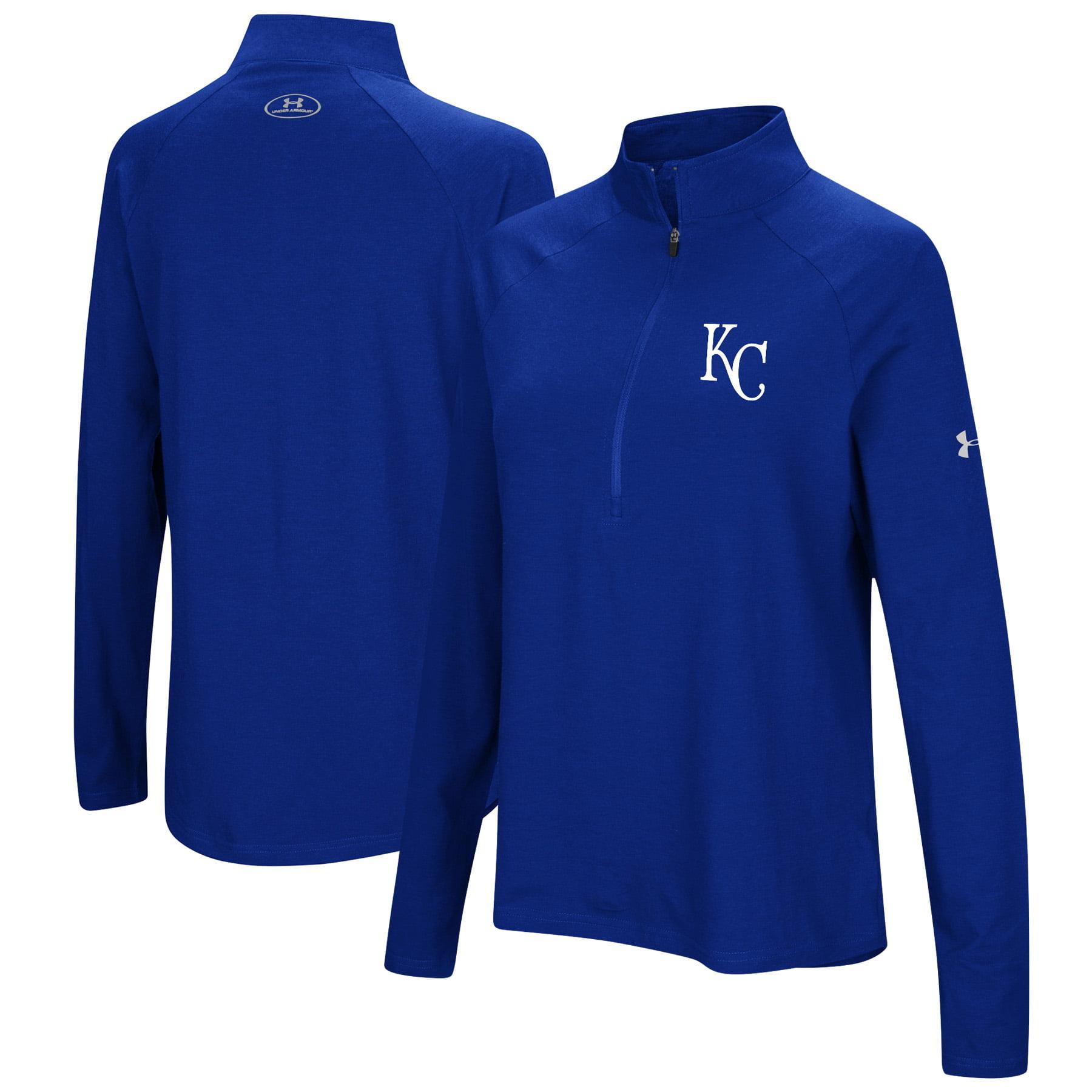 Kansas City Royals Under Armour Women's Passion Performance Tri-Blend Raglan Half-Zip Pullover Jacket - Royal