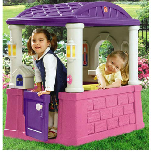 Step2 Four Seasons Pink and Purple Playhouse with 2 Built-In Seats and Tabletop