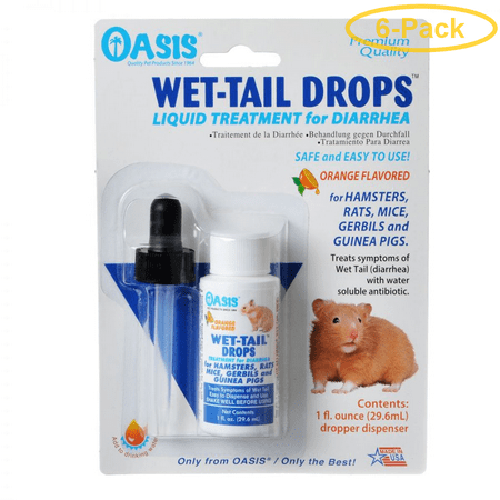 Oasis Small Animal Wet Tail Drops - Diarrhea Treatment 1 oz - Pack of
