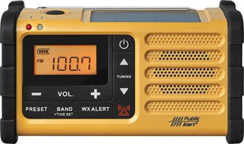 Sangean MMR-88 AM FM Weather+Alert Emergency Radio. Solar Hand Crank USB Flashlight, Siren, Smartphone Charger by Sangean