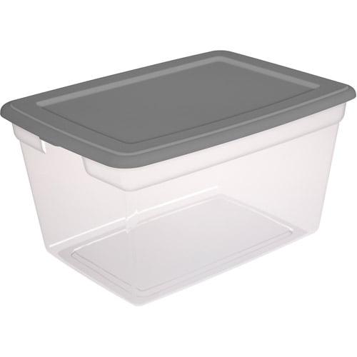 Sterilite 58 Quart Storage Box- Titanium, Set of 8