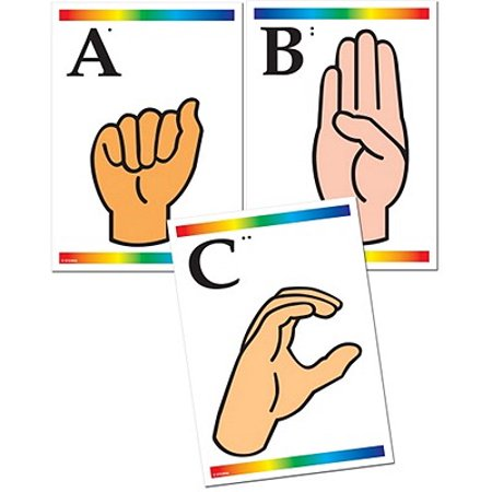 Sign Language Learning Cards with Braille - You In Sign Language