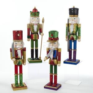 "15"" WOODEN NUTCRACKER SET OF 4"