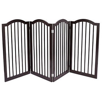BirdRock Brands Internet's Best Pet Gate with Arched Top   4 Panel   36 Inch Tall Fence   Free Standing Doorway Hall Stairs Dog Puppy