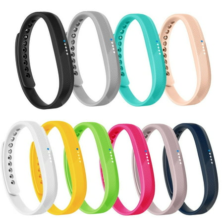 10 PACK Fitbit Flex 2 Bands Replacement Wristband Accessories Classic TPU Material Sport Strap for 2016 Fitbit Flex 2 Fitness (Flex Sports Power Straps)