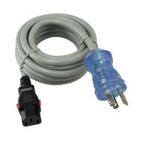 Conntek [27228] 15-Amp 10-Feet NEMA 5-15P Hospital/Medical Grade Power Cord with Push Lock IEC C13